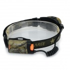 GLAREE M60 130lm 2-LED 3-Mode Cool White Light Headlamp - Camouflage + Black (2 x AA)