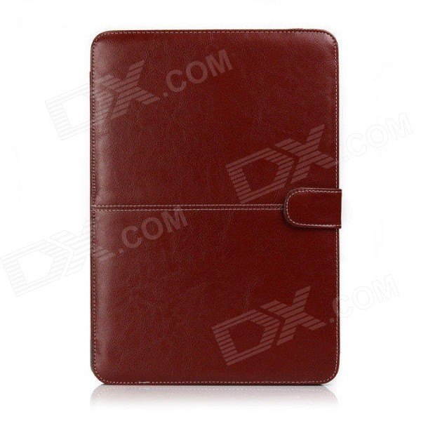"Protective PU Leather Flip Open Case for Macbook Pro 13.3"" Laptop - Brown"