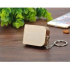 Mini Mobile 1800mAh Lithium Polymer Power Bank w/ Keychain - Gold