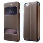 Baseus Pureview Series Flip-open PC + PU Leather Case w/ Window / Stand for IPHONE 6 PLUS - Brown