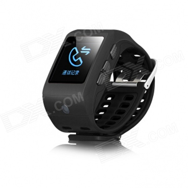 "SHA04 Smart Watch w/ Bluetooth, Camera, 1.44"" Touch Screen, Pedometer, Call ID, Phone Dialer - Black"