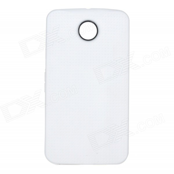 Fashionable Protective TPU Back Case Cover for Google Nexus 6 - White