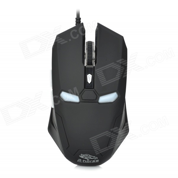 R-Horse FC-1616 Stylish USB 2.0 Wired 2000dpi Game Mouse - Black