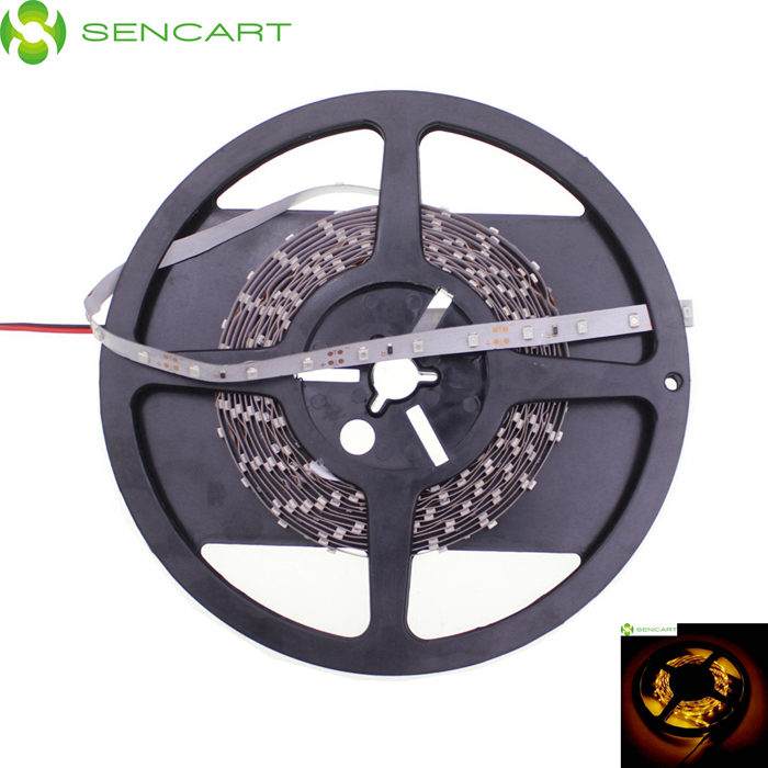 SENCART 30W 1200lm 589nm 300-SMD 3528 LED Yellow Light Strip - White (5M / DC 12V)
