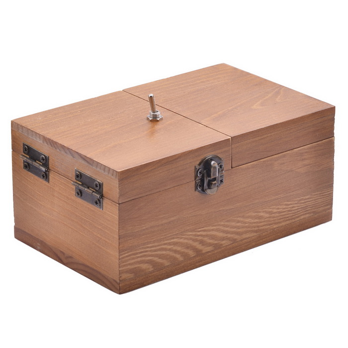 Wooden Useless Fully Assembled Machine Box Toy - Brown (2 x AAA)Other Toys<br>Form ColorBrownBrandNEJEModelJS0006-4MaterialWoodenQuantity1 setSuitable Age 8-11 years,12-15 years,Grown upsPacking List1 x Box toy (2 x AAA, included)<br>
