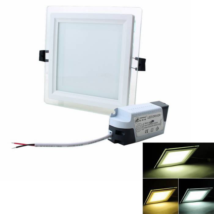 ZHISHUNJIA 12W 1600lm 48-SMD 5630 LED Dimmable Square Panel Light - White (AC 85~265V)