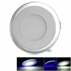 10W 700lm 14-5630 White LED + 12-2835 Blue LED Dimmable Round Panel Light (AC 85~265V)
