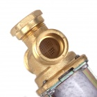 "ZnDiy-BRY 24V DC G1/2"" N/C Brass Inlet Solenoid Valve w/ Water-proof Case for Water Control - White"
