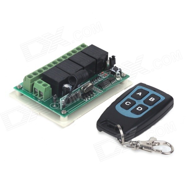 DC12V 4-CH RF Wireless Control Switch + 4-Buttons Waterproof RF Remote Control Kit for sale in Bitcoin, Litecoin, Ethereum, Bitcoin Cash with the best price and Free Shipping on Gipsybee.com