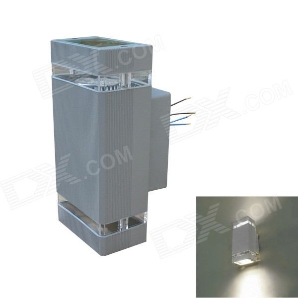 JIAWEN GU10 8W 320lm 6500K White LED Waterproof Wall Lamp for Balcony / Gatepost (AC85265V)