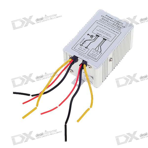 Universal DC 24V to 12V Car Power Supply Converter (60W/5A)