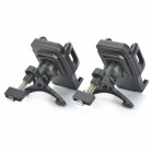 Universal Car Air Conditioner Outlet Support de montage pivotant 360 'pour téléphone portable / GPS - Noir (2Sets)