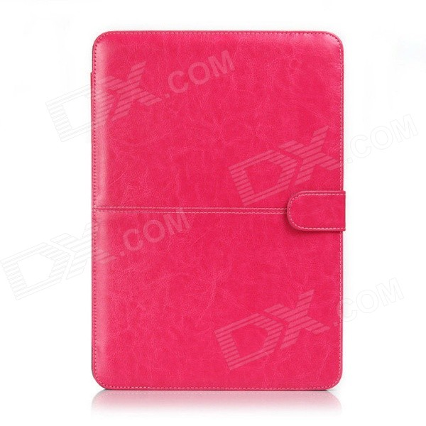 Protective-PU-Leather-Flip-Open-Case-for-Macbook-Air-133quot-Laptop-Red