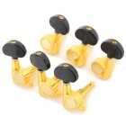 Gold Plated Guitar String Tuning Pegs - Black + Golden (6 Set)