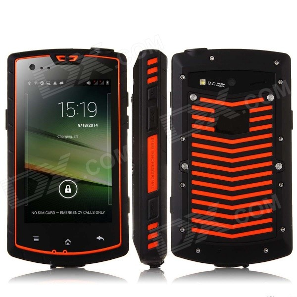 "S60 Waterproof Dual Core Android 4.2 3G Smart Phone w/ 4.0"", 2GB ROM, Walkie Talkie, GPS, NFC, SOS"