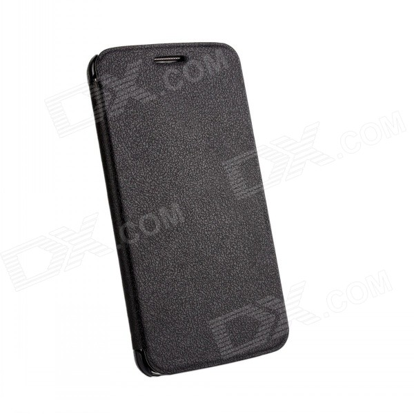 Protective Flip Open PU Leather Case for LG Optimus G2 - Black