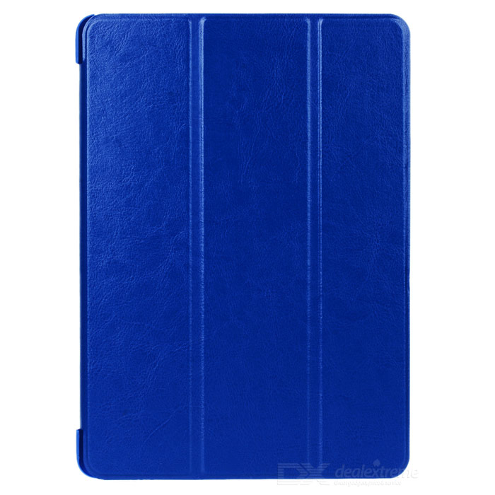 Protective 3-Fold PU Leather Smart Case w/ Stand for IPAD AIR 2 - Deep Blue
