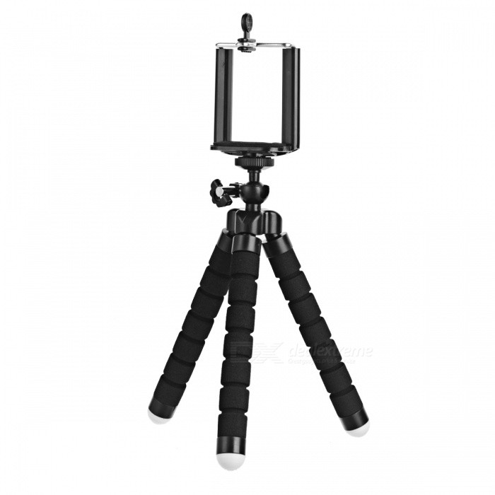 C007 Portable Tripod + Phone Holder + Adapter Set for Cellphone / GPS / GoPro 4 / 3
