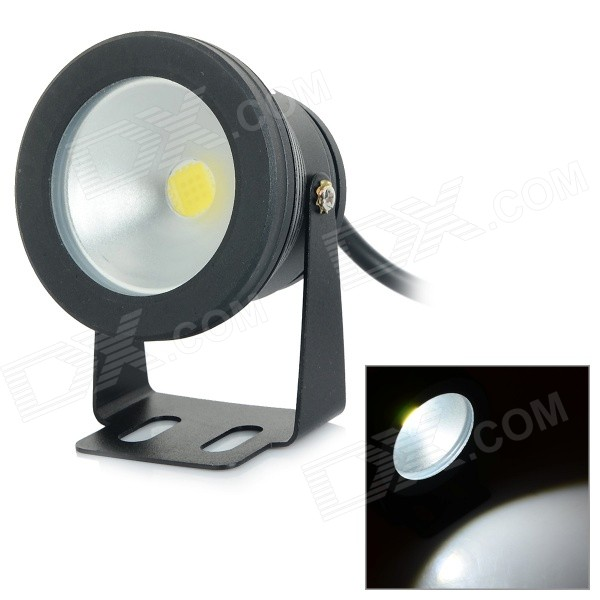 JRLED JRLED-10W-W Waterproof 10W 600lm 6500K LED White Light Spotlight - Black (AC 85~265V)LED Toys<br>Form  ColorBlack + SilverColor BINWhiteBrandJRLEDModelJRLED-10W-WMaterialAluminum alloy + glassQuantity1 DX.PCM.Model.AttributeModel.UnitPower10WRated VoltageAC 85-265 DX.PCM.Model.AttributeModel.UnitConnector TypeOthers,WiredChip BrandEpistarChip TypeE-01Emitter TypeLEDTotal Emitters1Actual Lumens300~600 DX.PCM.Model.AttributeModel.UnitColor Temperature12000K,Others,6000~6500KDimmableNoBeam Angle120 DX.PCM.Model.AttributeModel.UnitOther FeaturesWaterproof rating: IP65;  Convex lens with 60 degreesPacking List1 x Spotlight (24cm-cable)<br>