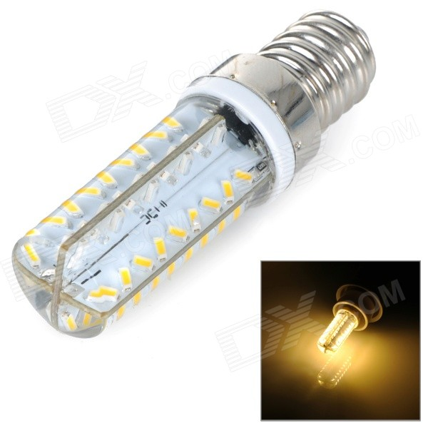 E14 5W 450lm 3500K 72-SMD 3014 LED Warm White Dimmable Lamp - White + Silvery Grey (AC 220~240V)E14<br>Form  ColorWhite + Silver Grey + Multi-ColoredColor BINWarm WhiteMaterialAluminumQuantity1 DX.PCM.Model.AttributeModel.UnitPower5WRated VoltageAC 220-240 DX.PCM.Model.AttributeModel.UnitConnector TypeE14Chip Type3014Emitter TypeLEDTotal Emitters72Actual Lumens450 DX.PCM.Model.AttributeModel.UnitColor Temperature12000K,Others,2700~3500KDimmableYesPacking List1 x Corn lamp<br>