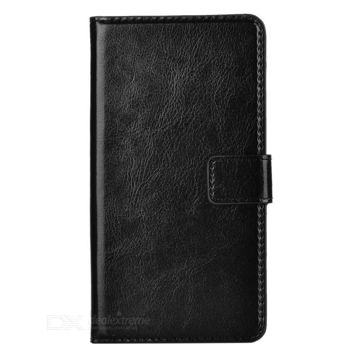 Buy Protective PU Leather Flip-Open Case for LG G3 - Black with Litecoins with Free Shipping on Gipsybee.com