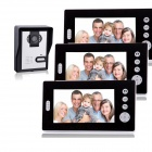 KX7001-1V3-7-Screen-Wireless-Video-Door-Phone-w-1-Night-Vision-Camera-2b-3-Monitors-White-2b-Black