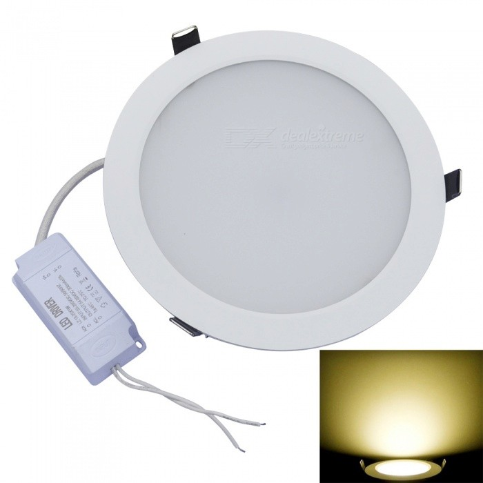 JIAWEN 24W 48-SMD 5630 2160lm Warm White 3000K LED Ceiling Light (AC 85-265V)Ceiling Light<br>Form  ColorWhite + SilverColor BINWarm WhiteModelCLD-24W-001Quantity1 pieceMaterialAluminumPower24WRated VoltageOthers,AC 85-265 VEmitter TypeOthers,SMD 5630 LEDTotal Emitters48Theoretical Lumens1920-2160 lumensActual Lumens1920-2160 lumensColor Temperature12000K,Others,3000-3200KDimmableNoBeam Angle160 °External Diameter18.1 cmHole diameter16.5 cmHeight4.5 cmForm  ColorWhite + SilverColor BINWarm WhitePacking List1 x LED Ceiling Light 1 x External driver<br>
