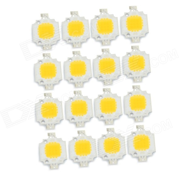 JRLED 10W 1000lm 3300K 9-LED Warm White Light Emitter Boards - White + Yellow (DC 10~11V / 16 PCS)ModelJR-LED-10WMaterialCopper + siliconeForm  ColorWhite + Yellow + Multi-ColoredQuantity16 DX.PCM.Model.AttributeModel.UnitPower10 DX.PCM.Model.AttributeModel.UnitRate VoltageDC 10~11VWorking Current900 DX.PCM.Model.AttributeModel.UnitDimmableNoEmitter TypeLEDTotal Emitters9Color BINWarm WhiteBeam Angle140 DX.PCM.Model.AttributeModel.UnitColor Temperature12000K,Others,3000~3300KActual Lumens600~1000 DX.PCM.Model.AttributeModel.UnitPacking List16 x Light emitter boards<br>