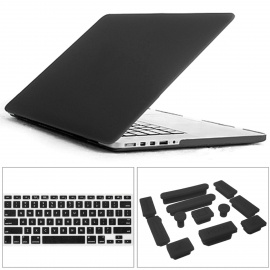 Mrnorthjoe-PC-Case-2b-Keyboard-Cover-2b-Plug-for-154-MACBOOK-Black