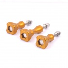 PANNOVO G-734 CNC Aluminum Screw Set w/ Nut for GoPro HD Hero 2 / 3 / 3+ / 4 - Golden