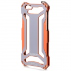 High Quality Fashhion Aluminum Alloy Protective Back Case for IPHONE 6 - Orange + Grey