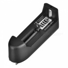 Smart 18650 Li-ion Battery Charging Stand + In-Car Charger + Travel Charger Set - Black