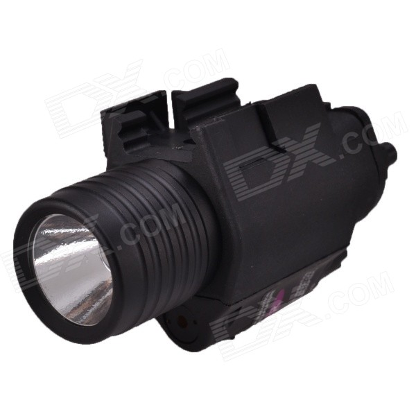 RichFire SF-P03 5mW Red Laser Gun Sight w/ Pressure Switch + CREE XRE R2 Tactical Flashlight (2 x CR123A)Form  ColorBlackBrandRichFireModelSF-P03MaterialAluminum alloyQuantity1 DX.PCM.Model.AttributeModel.UnitGun Type20mm slot width; Quick-release typeMount TypeWeaverLaser Power5 DX.PCM.Model.AttributeModel.UnitLaser Wavelength650nmLaser Reaching Range500mLaser ColorRedOther FeaturesLens : Glass; Reflector: Aluminum texturedPacking List1 x Gun sight w/ flashlight1 x Hex wrench2 x CR123A batteries1 x Pressure switch (before stretch: 30cm, after stretch: 100cm)1 x English user manual<br>