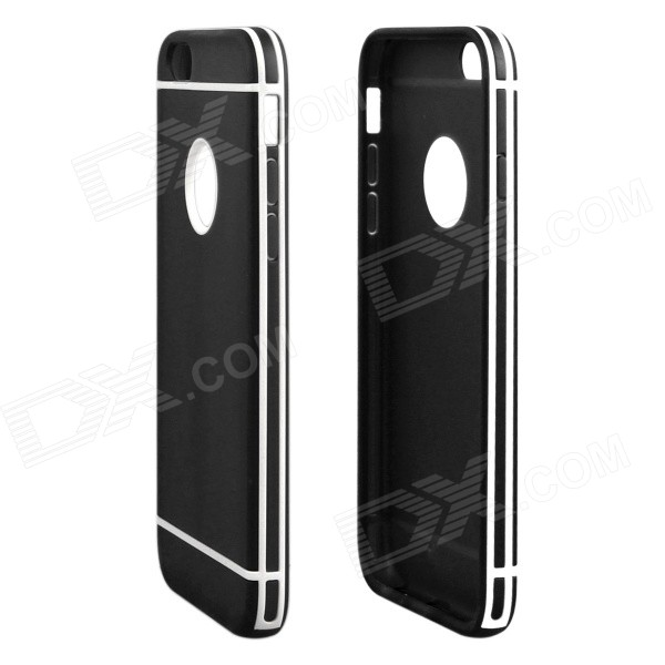 ENKAY Protective TPU + Plastic Back Case Cover for 4.7 IPHONE 6 - BlackTPU Cases<br>Form  ColorBlackQuantity1 DX.PCM.Model.AttributeModel.UnitMaterialTPUCompatible ModelsIPHONE 6DesignSolid ColorStyleBack CasesPacking List1 x Back case<br>