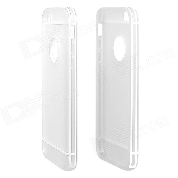 ENKAY Protective TPU + Plastic Back Case Cover for 4.7 IPHONE 6 - WhiteTPU Cases<br>Form  ColorWhiteQuantity1 DX.PCM.Model.AttributeModel.UnitMaterialTPUCompatible ModelsIPHONE 6DesignSolid ColorStyleBack CasesPacking List1 x Back case<br>