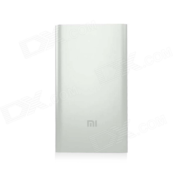 XIAOMI Universal 5000mAh Li-po Mobile USB Power Source Bank - Silvery