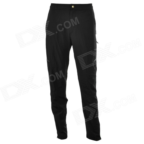 ACACIA Men's Spring and Autumn Outdoor Cycling Quick-Dry Long Pants - Black + Grey + Red (XL)
