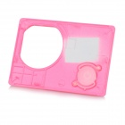 Replacement Water-resistant Protective Camera Front Cover w/ Wi-Fi for SJ5000 - Deep Pink