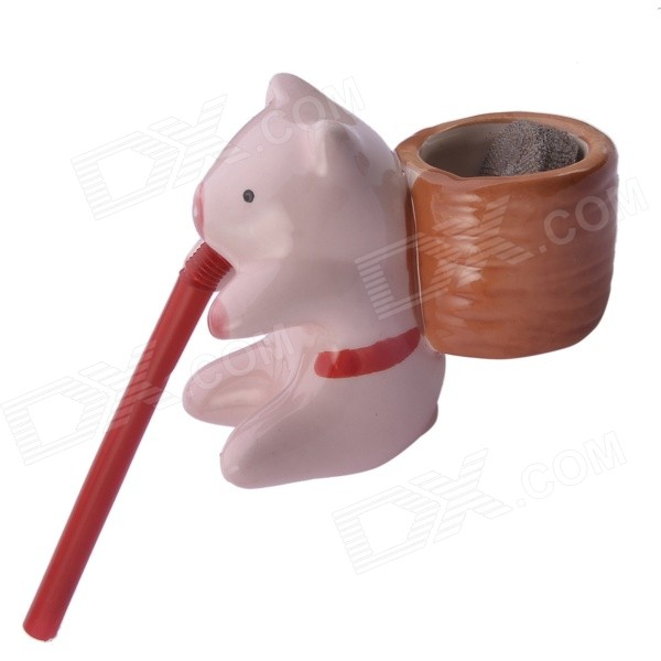 Buy NEJE Self Watering Cute Pig Style Plant Pot - Pig (Clover) with Litecoins with Free Shipping on Gipsybee.com