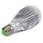 E27 10W 850lm 8500K Cold White Light COB LED Bulb - White + Silvery Grey (AC 85~265V)