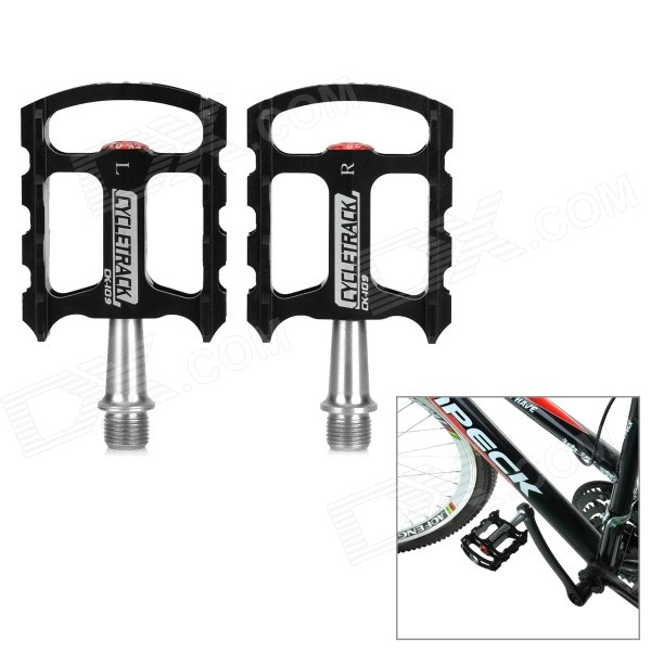 CYCLETRACK CK-109 Lightweight CNC Aluminum Bicycle Pedals - Black + Silver (2 PCS)Form  ColorBlack +ModelCK-109Quantity2 DX.PCM.Model.AttributeModel.UnitMaterialAluminum CNC, steel axisPedal DesignPlatformBest UseCyclingTypePedalsPacking List2 x Pedals<br>