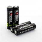 Soshine 18650 3400mAh Anode Protection Batteries w/ Case -Black (4PCS)