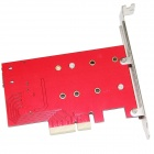 WBTUO LM-412N-V1.0 bureau pci-e + cable + screwdriver- rouge