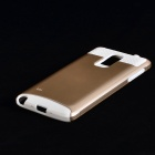 Protective TPU + PC Back Case for Samsung Galaxy Note 4 - Gold + White
