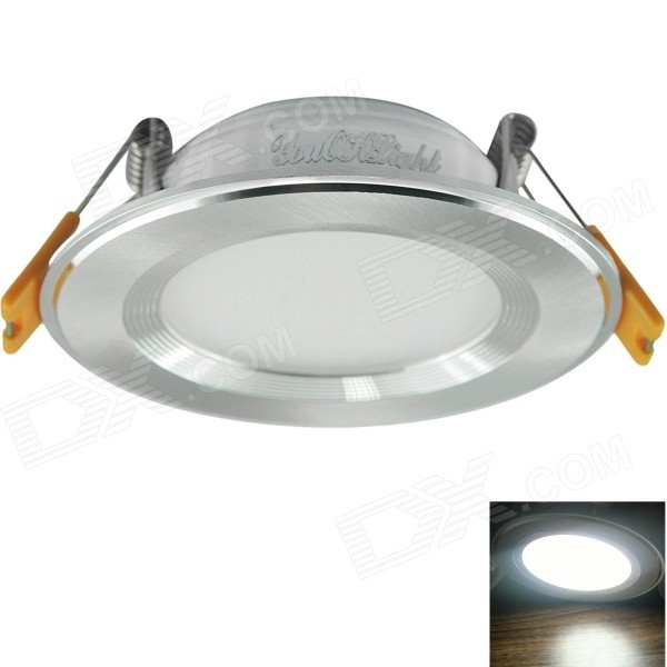 YouOkLight 7W 6000K 600lm White Light Ceiling Light Lamp w/ LED Driver - Silver (AC 100~240V)