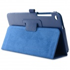 "Protective Flip Open PU Case w/ Stand / Auto Sleep for 8"" Asus Fonepad 8 (FE380CG) - Navy Blue"