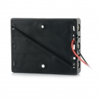 3-Slot 3.7V 18650 Battery Holder Case Box w/ Leads - Black
