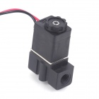"12V DC 1/8"" N/C Plastic Normally Closed Electric Air Gas Water Solenoid Valve - Black"