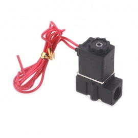 220V-AC-18-NC-Normally-Closed-Plastic-Electric-Air-Gas-Water-Solenoid-Valve-Black