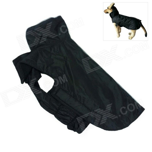 Water-resistant Nylon + Fleece Jacket for Pet Dog - Black (Size XS)